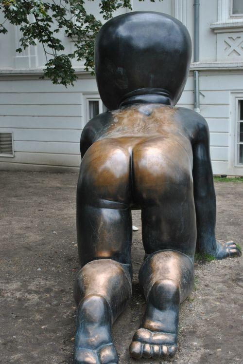 sculpture ass brass