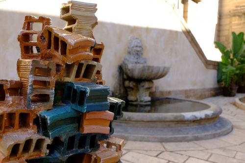 sculpture contemporary art bricks