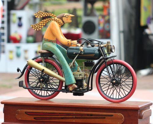 sculpture bicycle motorcycle