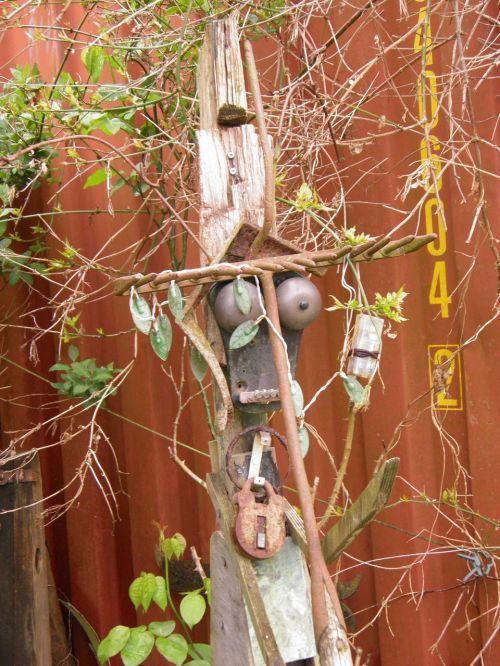 sculpture garden recycled