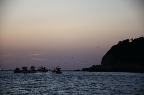 sea glow twilight