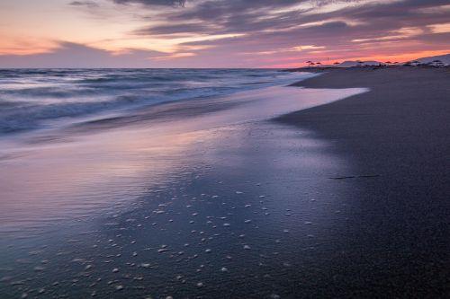 sea evening sunset