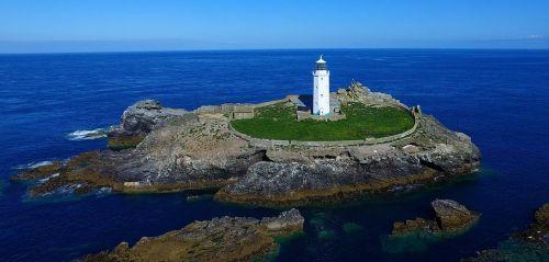 sea cornwall lighthouse