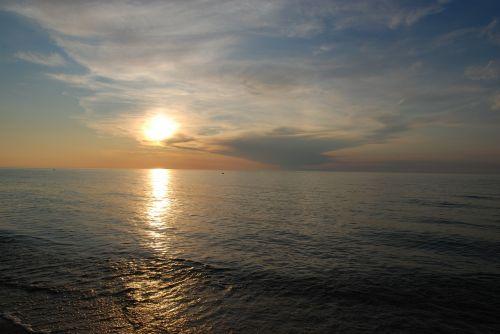 sea the baltic sea sunset