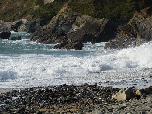 rocks coastline cornwall