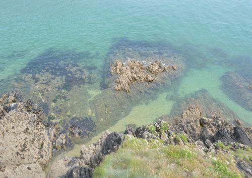 jūra,vanduo,turkis,pusė,mėlynas,skaidrus vanduo,Rokas,ramus,pajūryje,mėlynas vanduo,gamta,Brittany,finistère,france