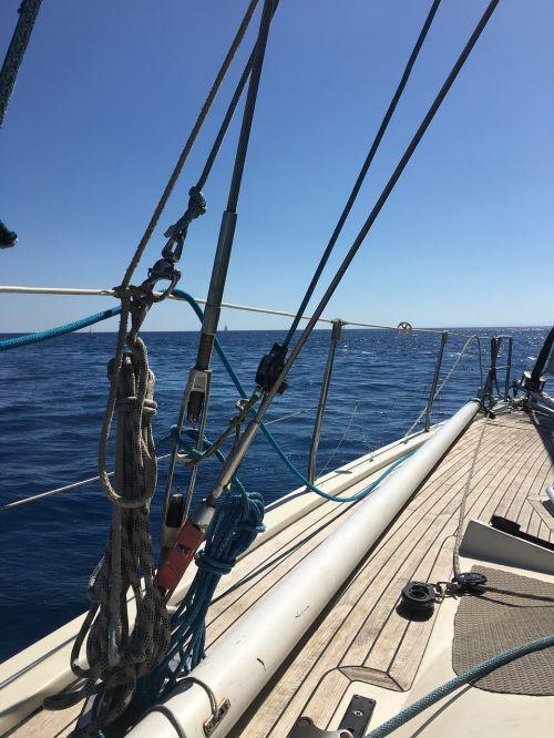 sea boat horizon