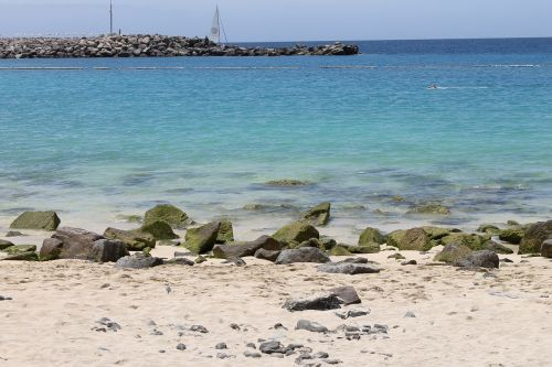 sea booked beach