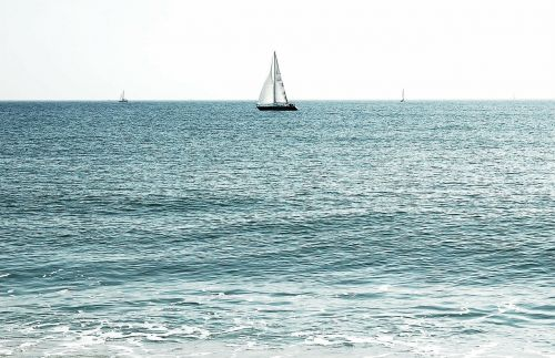 sea ocean sailboat