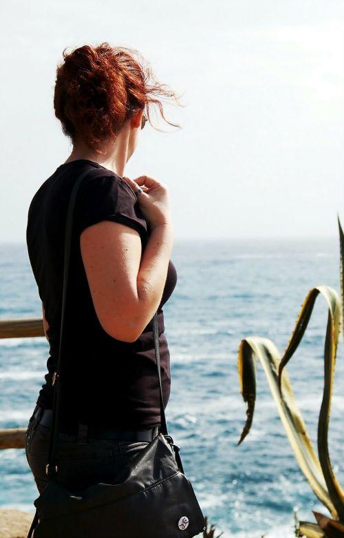 sea girl mediterranean sea