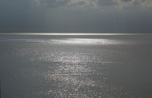sea evening sky water