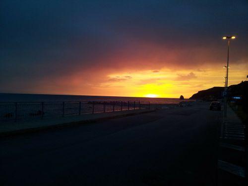 sea sunset calabria