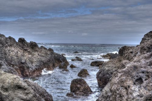 sea rocks sky