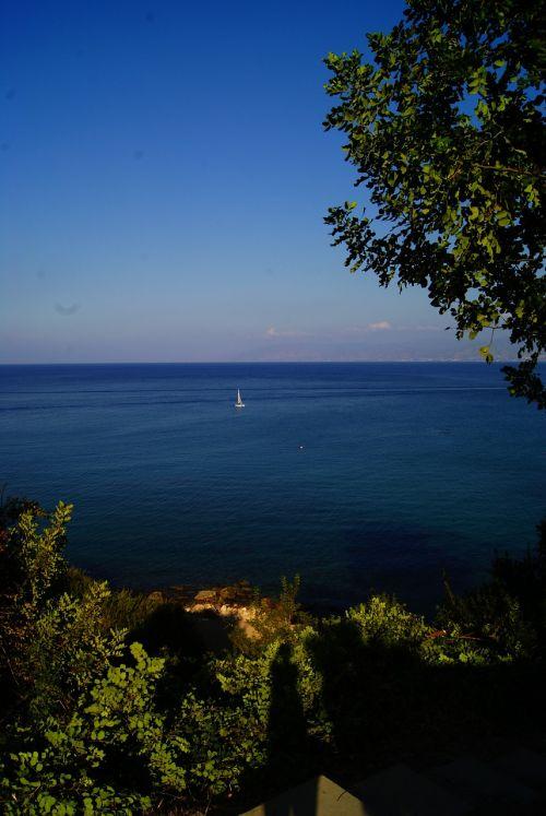 jūra,valtis,dangus,mėlynas,gamta,vasarą,vasara,kraštovaizdis