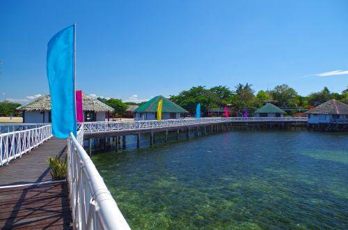 sea footbridge cottages