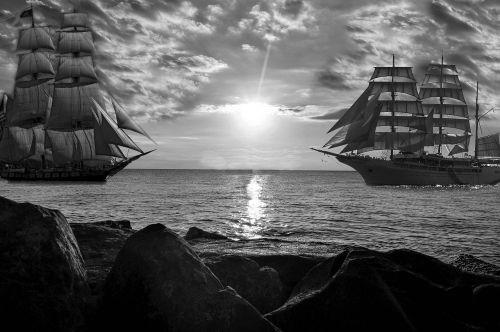 sea boats ships