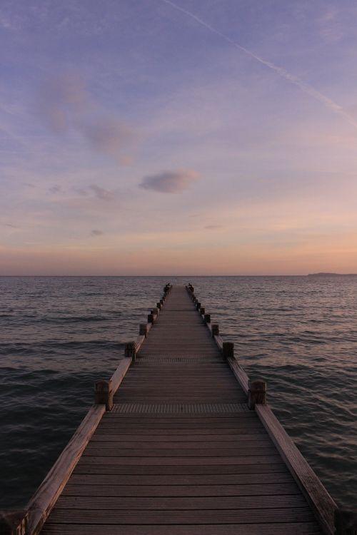 sea pier sun