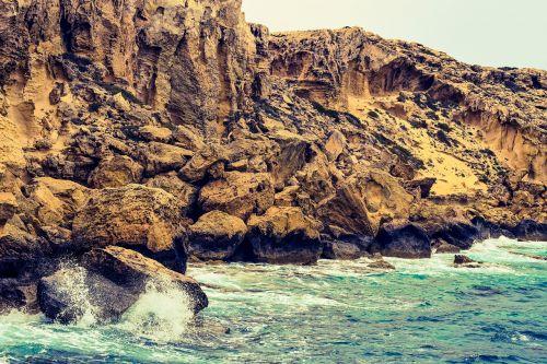 jūra,kranto,gamta,kraštovaizdis,peizažas,uolos pakrantė,bangos,pakrantė,geologija,cavo greko,Kipras