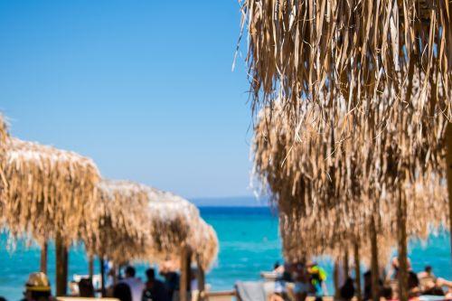 sea beach umbrellas