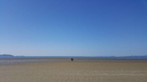 sea bathing beach sandy