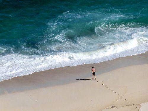 sea floods beach