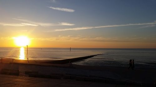 sea sunset abendstimmung