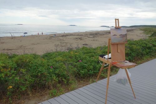 sea beach painting