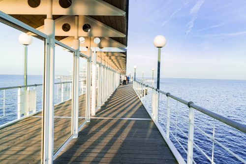sea bridge water