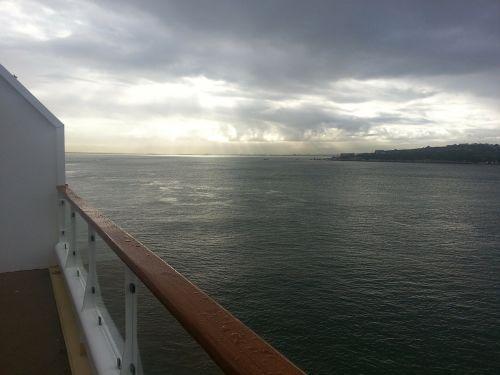 sea ship cloudscape