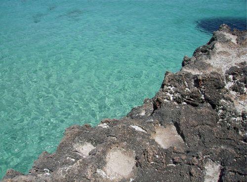 sea water cliffs