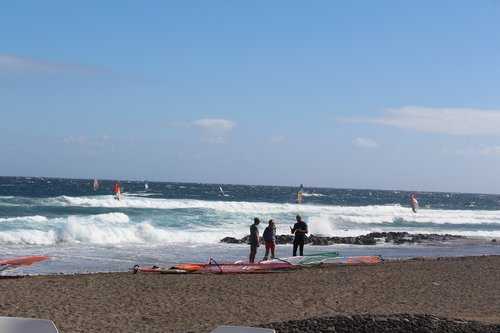 sea  tenerife  surfing
