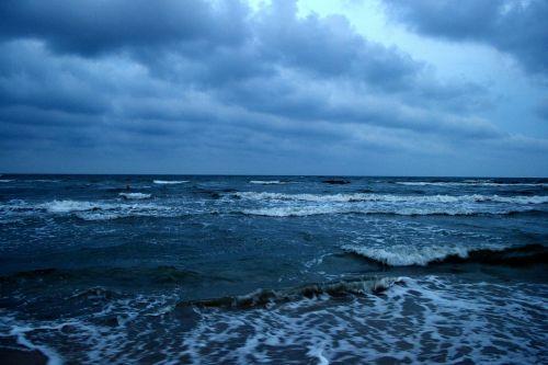 sea black sea storm
