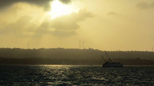 sea boat ocean