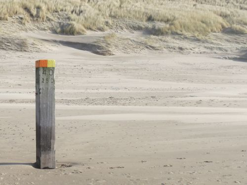sea beach beach pole