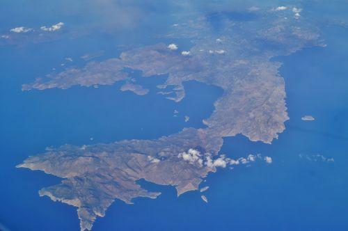 jūra,sala,žemė,skrydis,vaizdas iš lėktuvo,vaizdas,Graikija,paukščio skrydžio vaizdas,aukštis