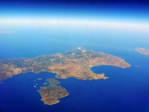 sea island aerial view