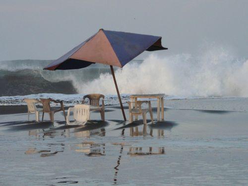 sea beach storm