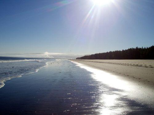 sea beach mirroring