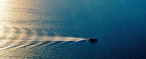sea ship aerial view