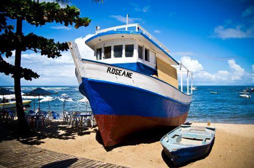 sea boat beach
