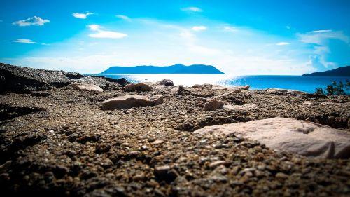 sea stones mountains