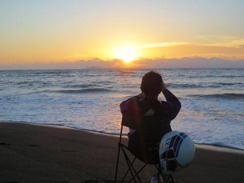 sea blue sunset