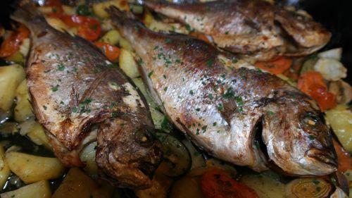 sea bream fish vegetables