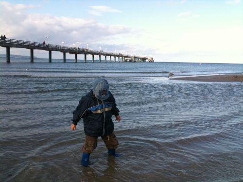 sea bridge beach baltic sea