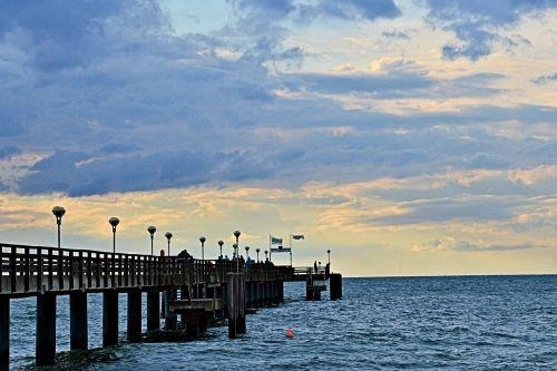 sea bridge baltic sea sea