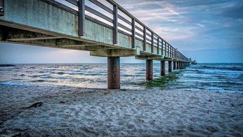 sea bridge  bridge  water