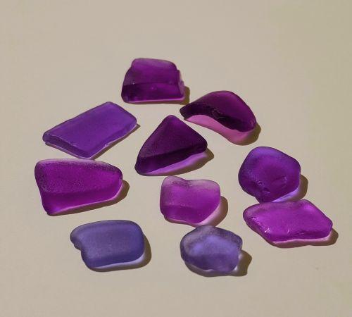 jūros stiklas, paplūdimio stiklas, lobiai, jūra, stiklas, papludimys, vandenynas, violetinė