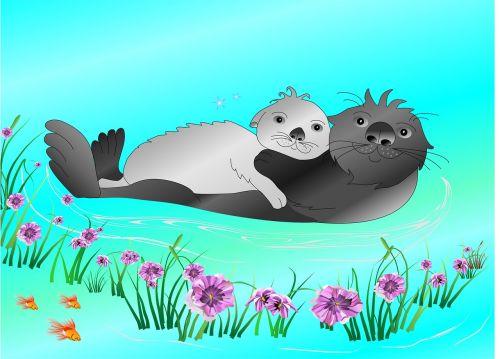 sea otters otter animal