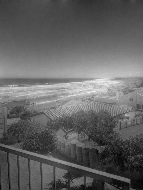 Sea View Black And White