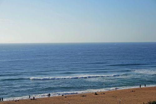 Sea With Beach And Fisherman